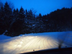 危険な雪道