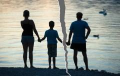 男女離婚家族